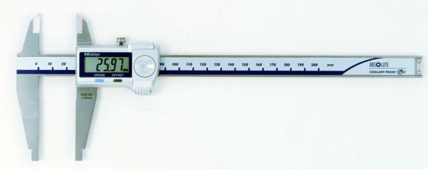 Digitala Skjutmått 551-serien Rundade Mätytor Och Standardskänklar