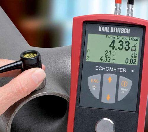 Tjockleksmätare Echometer 1076 Data Logger Upp Till 400mm